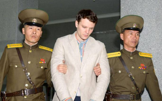 Otto Warmbier was sentenced to 15 years hard labour in Pyongyang (Photo: the Telegraph)