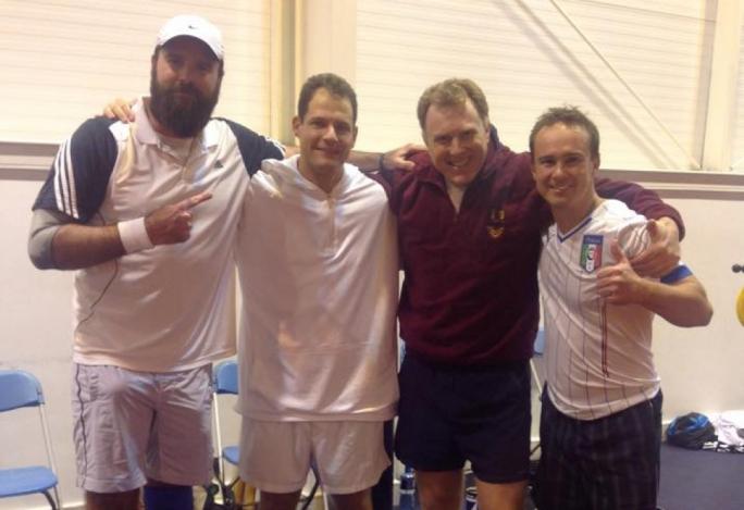 British indoor championships (from left) Mark Hadley, Mark Gatt, Timur Shadiev and Paul Livesi