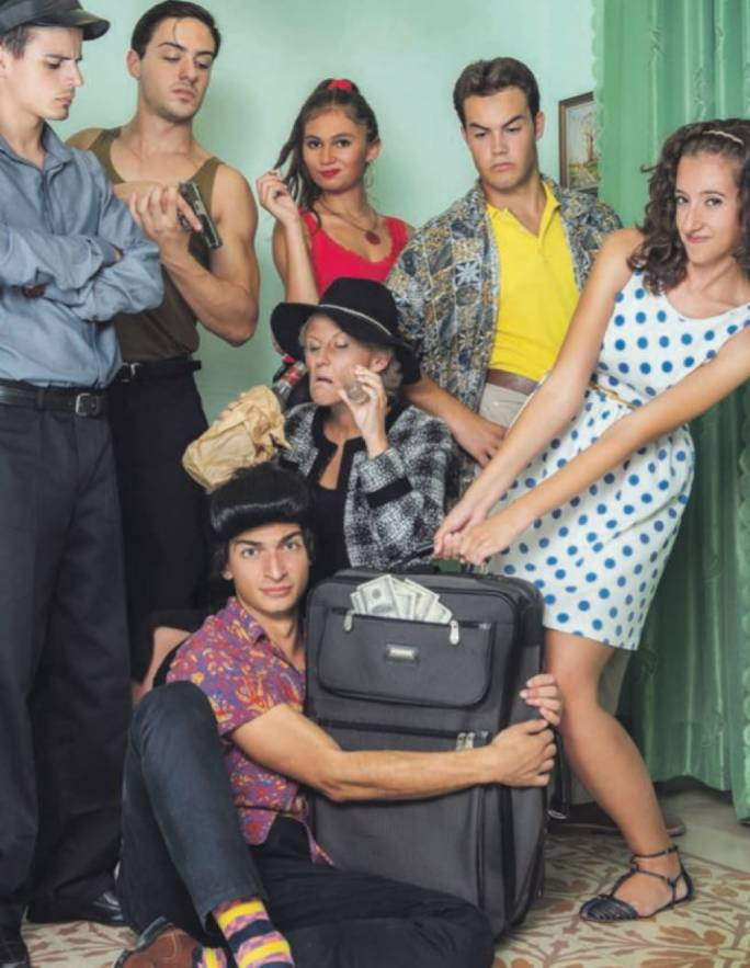 The cast of Laugh? I Nearly Went to Miami, staged at the Teatru Salesjan next weekend