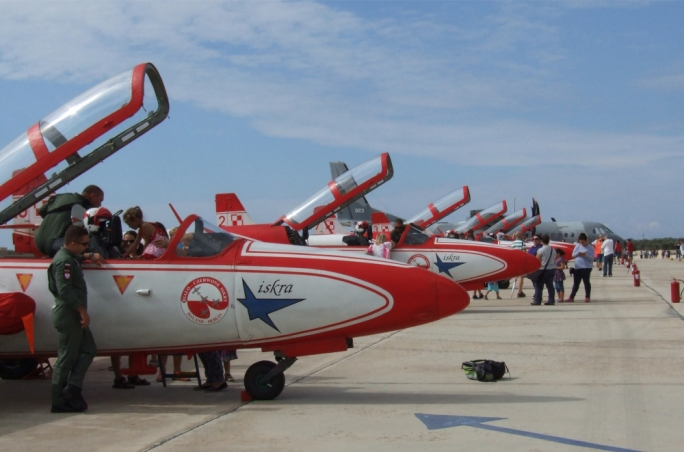 The Bialo-Czerwone Iskry display team of the Polish Air Force
