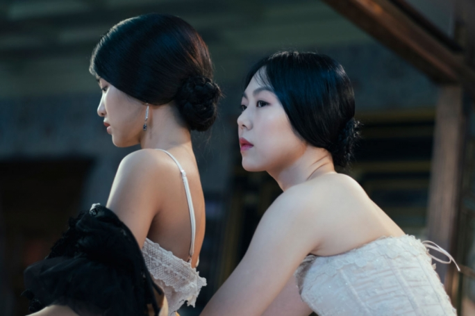 Sumptuous, sensual and very, very sexy:  Kim Tae-ri (left) and Kim Min-hee subvert the best laid plans of a particularly devious man in the most erotic way imaginable