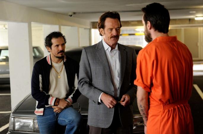 A dangerous three-way: John Leguziamo, Bryan Cranston and Joe Gilgun in The Infiltrator