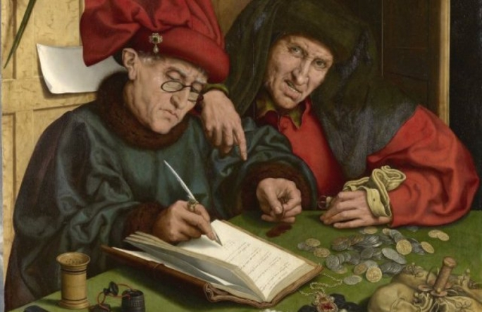 Major banks and Big Four firms were an integral part of the Panama Papers intermediaries. Artwork: 'The Misers' by Followers of Marinus van Reymerswaele