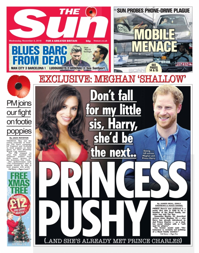 The front page of last Wednesday's The Sun