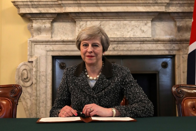 Theresa May formally triggered Brexit using Article 50 of the Lisbon Treaty, with the UK due to leave in March 2019