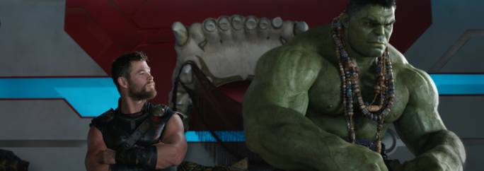 Buddies in the saddle: Chris Hemsworth and Mark Ruffalo go on an interdimensional adventure in this wacky and utterly joyful take on Marvel Comics lore