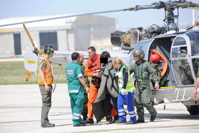 The second rescue operation carried out by the Armed Forces of Malta today. (Photo: AFM)