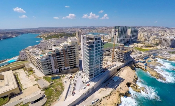 Tigné Point forms part of the MIDI project in Sliema