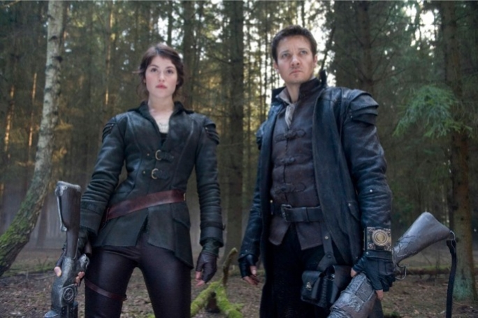 Former Bond girl Gemma Arerton and Avengers member Jeremy Renner take to the covens with their anachronistic weaponry in the latest 'remix' of a classic fairy tale.