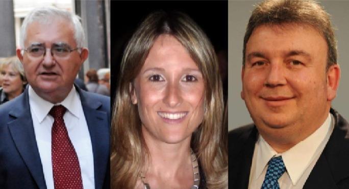 L-R: John Dalli, Gayle Kimberley, Silvio Zammit