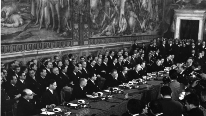 60 years ago in Rome, where the foundations of what would become the EU were laid
