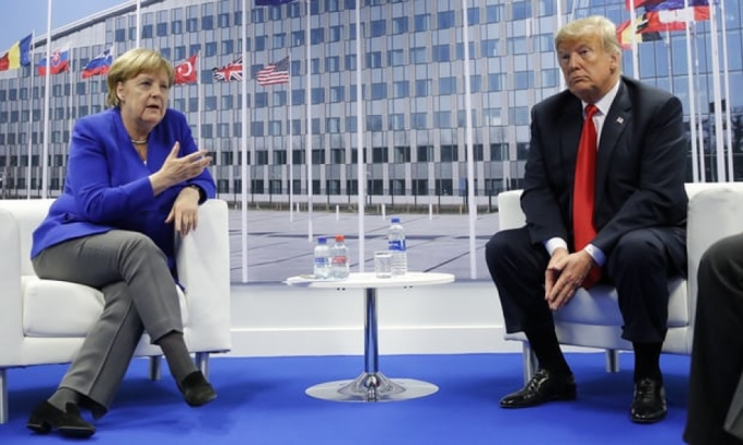 The first day of the Nato Summit left many confused after Trump urged allies to use 4% of GDP on defence (Photo: Pablo Martinez Monsivais/AP)