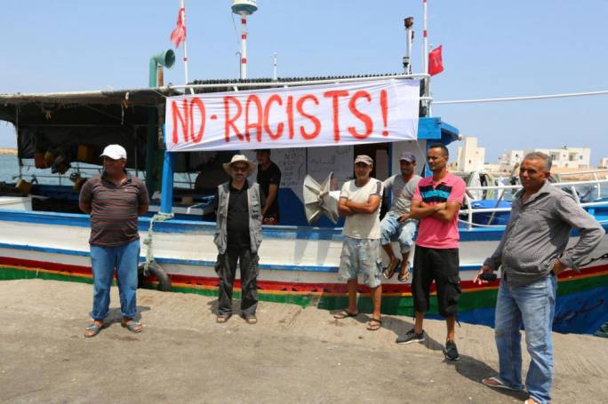 Fishermen gather, threatening to block off refuelling station for C-Star boat