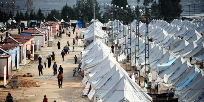 One of the refugee camps in Turkey