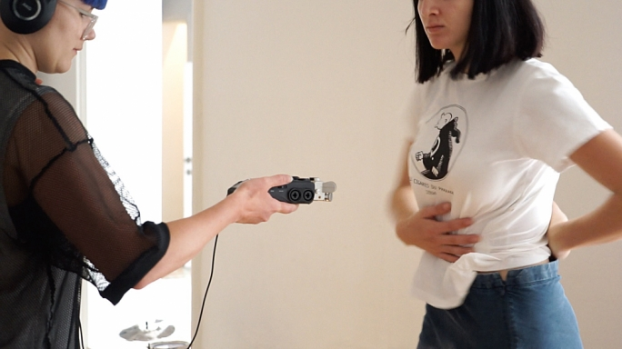 Lani Bagley collaborates with dancer Francesca Zammit at Blitz, Valletta