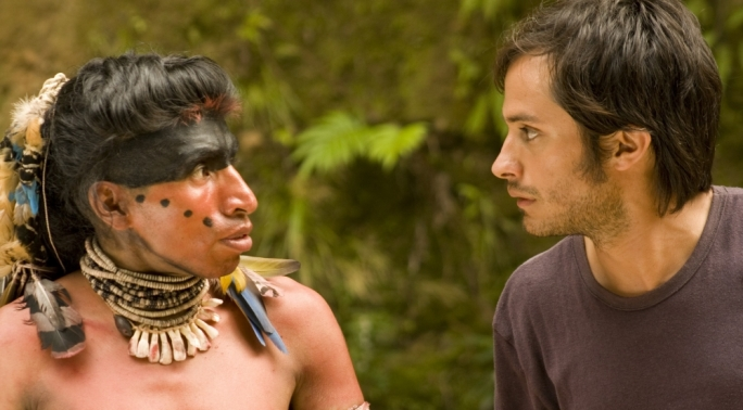 Still from Even the Rain, featuring Gael Garcia Bernal (right)