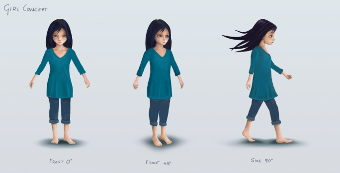 Julinu's character designs for Colours in Motion