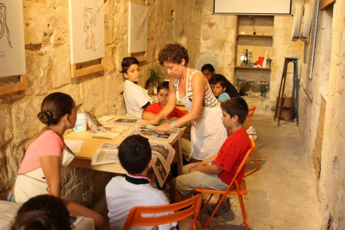 The young participants of the Kreaturi project during the workshops held at The Mill in Birkirkara