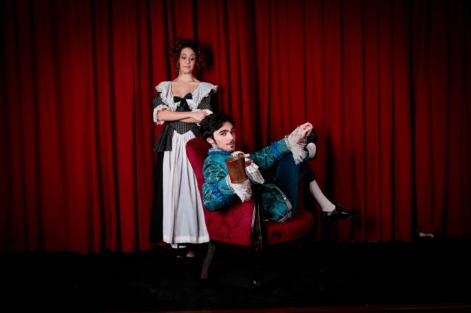 Tina Rizzo and Andre Agius in MADC's She Stoops to Conquer (Photo: Sebio Aquilina)