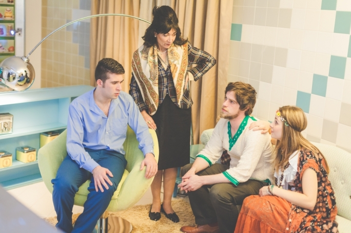 The cast of Butterflies are Free, from left: Luke Mercieca, Marika Fenech, Jimmy Monaghan and Maxine Aquilina