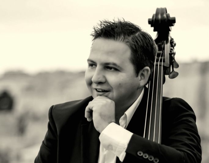 Gjorgji Cincievski, principal double bass player with the Malta Philharmonic Orchestra