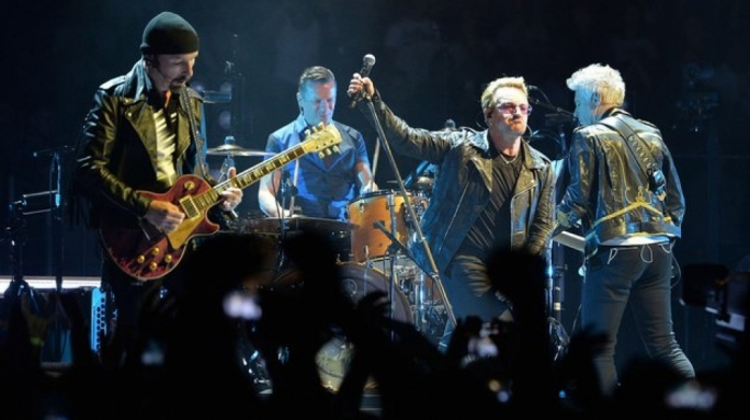Rock band U2 were forced to postpone a gig in Sweden due to a 'breach of security'