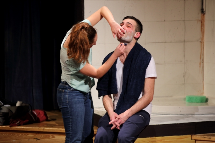 Close shave… too close: Mariele Zammit and Stephen Mintoff. Photography by Christine Joan Muscat Azzopardi