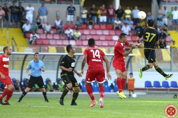 Valletta's season did not start as planned as they were defeated by Mosta. Photo by Joe Borg (MFA)