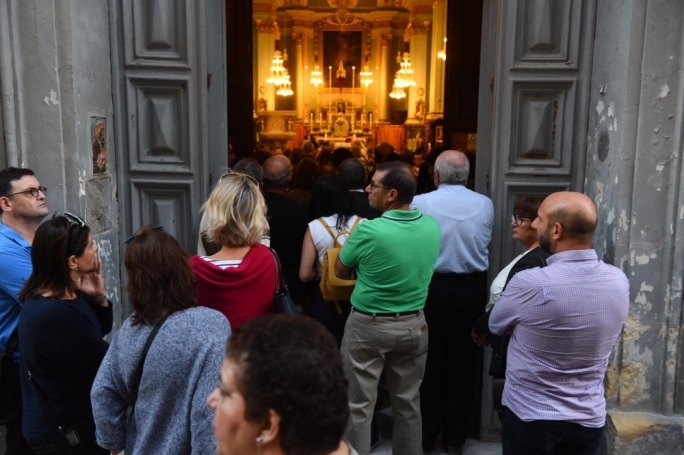 The Mass was held at the St Francis Conventual Church on Republic Street, Valletta
