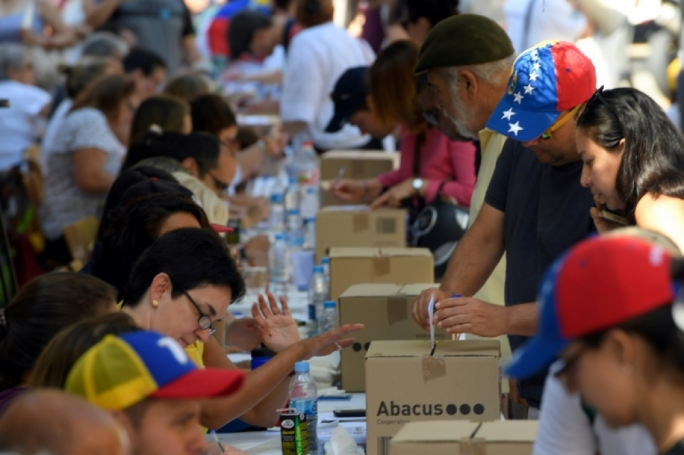 Hundreds of Venezuelans casted their vote