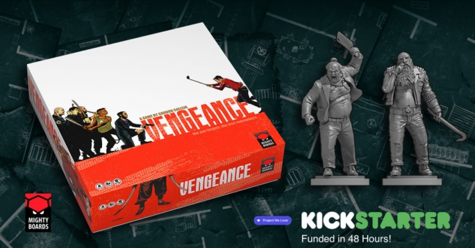 Produced by Mighty Box, Vengeance can be played by one to five players