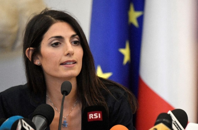 Virginia Raggi 'trusted the least trustworthy people in the world', Grillo said (Photo: AFP)