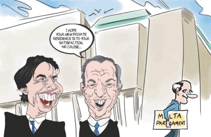 Cartoon for MaltaToday on Sunday by Mark Scicluna.