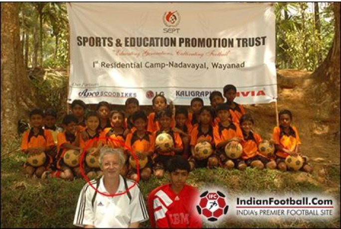 File: Jozef Franz Achtergael pictured in Kerala, India where he founded and a boys football school