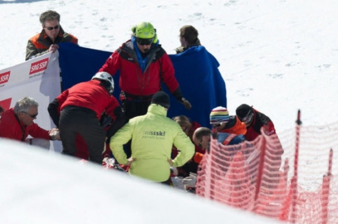 Paramedics surround Zoricic shortly after his horrific incident.