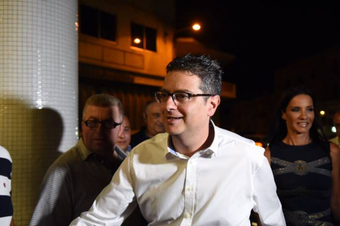 Adrian Delia emerged the winner of the first round of voting in the PN leadership election