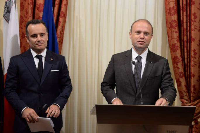 Muscat joined Chetcuti Cauchi in celebrating the law firm's 15 years of operation. [Photo: James Bianchi/MediaToday]