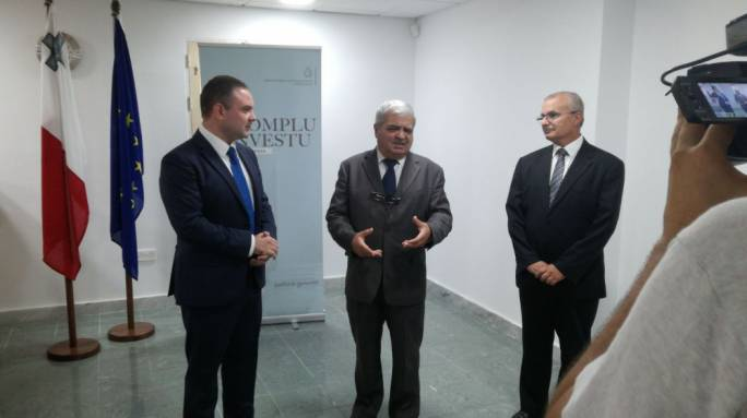Chief Justice Silvio Camilleri with Justice Minister Owen Bonnici