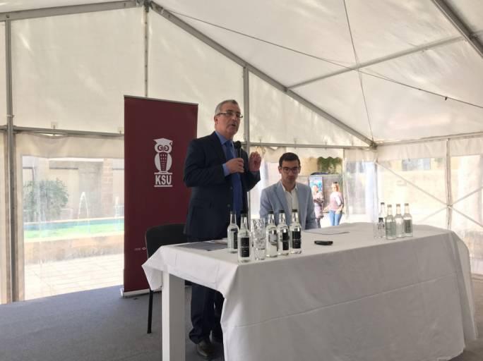 Education Minister Hon. Evarist Bartolo addresses students