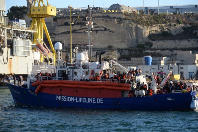 The MV Lifeline was allowed to dock in Malta after over a week at sea