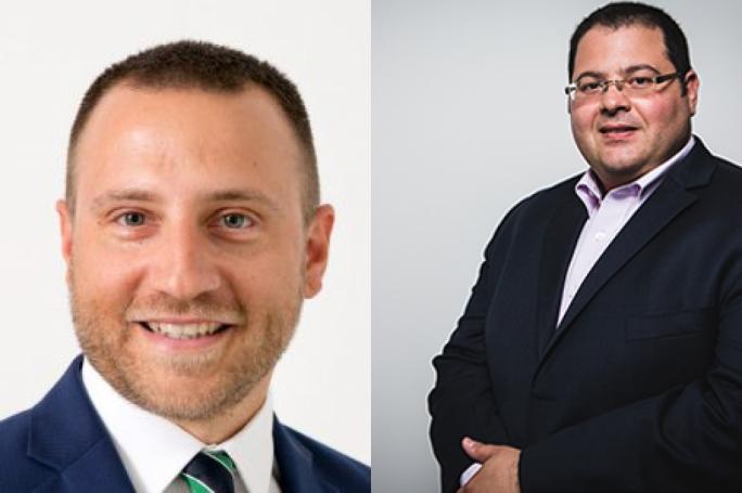 Samuel Gauci left; Joseph F. Borg right