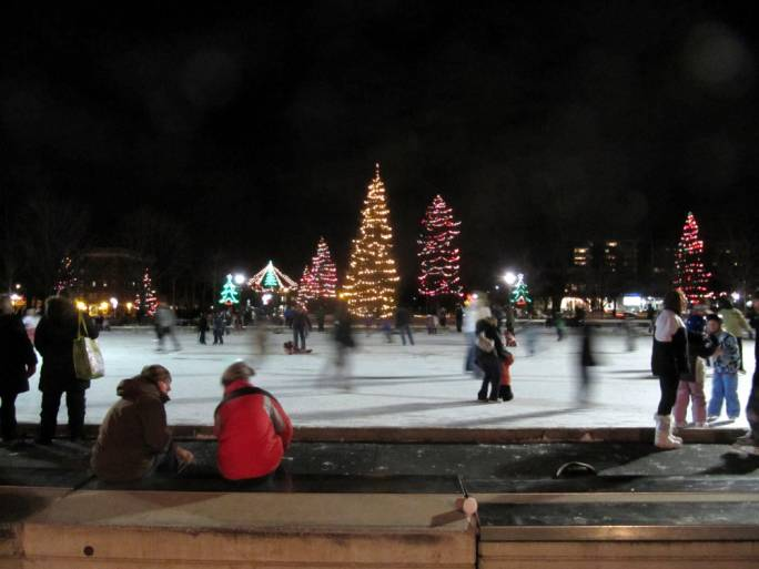 Victoria Park is the city's central park. It hosts a handmade ice rink throughout the long winter months