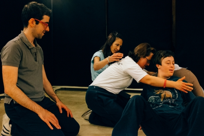 Sandra Mifsud (centre) teaching Opening Doors participants