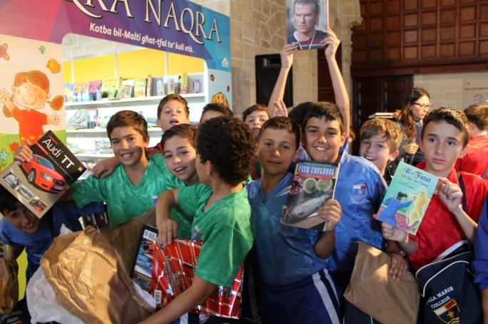 Children gather at the 2014 National Book Festival