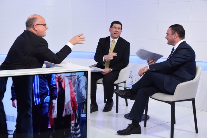 Saviour Balzan discusses pros and cons of the proposed Media Act with PN's Clyde Puli and Justice Minister Owen Bonnici
