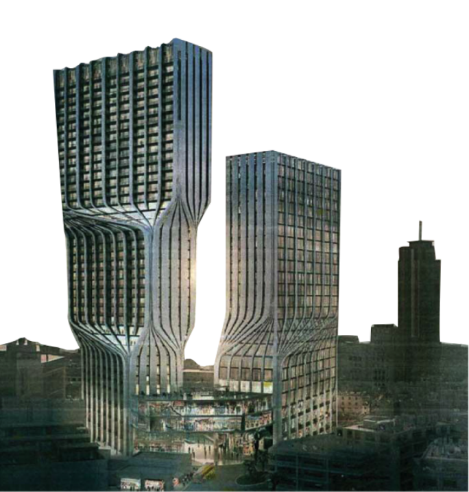 Zaha Hadid creations: the two-tower behemoth in Paceville on Mercury House