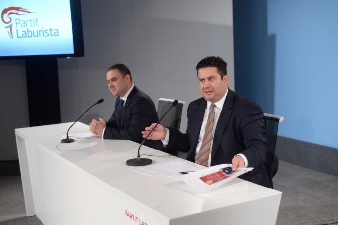 Justice minister Owen Bonnici (left) and tourism minister Edward Zammit Lewis. (Photo: James Bianchi/MediaToday)