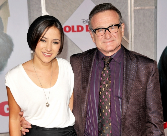 Father and daughter, Robin and Zelda Williams