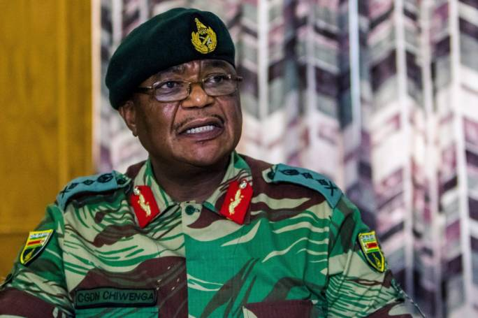 Gen Constantine Chiwenga, the head of Zimbabwe's military, called a press conference to warn that troops could intervene if long-term political allies continued to suffer.