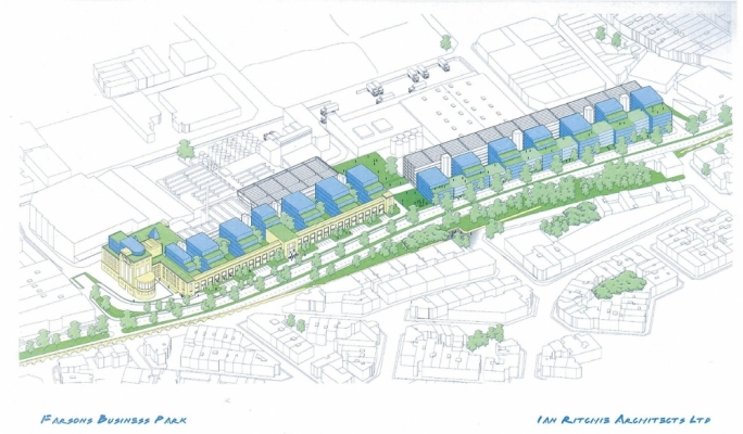 The Farsons business park masterplan by Ian Ritchie
